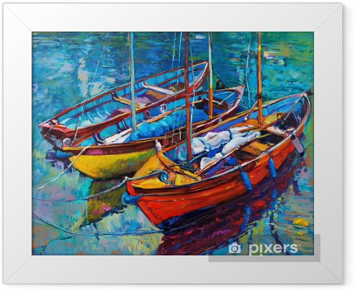 Boats Framed Poster - Hobbies and Leisure