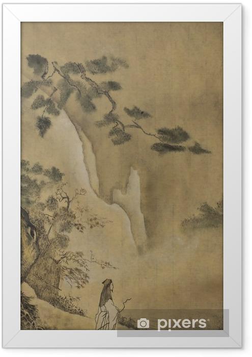 Plakat w ramie Taoistycznych szałwia w górach - Buddyzm