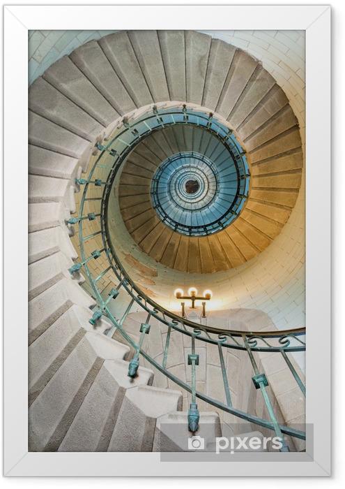 Plakat w ramie Piękne schody latarnia -