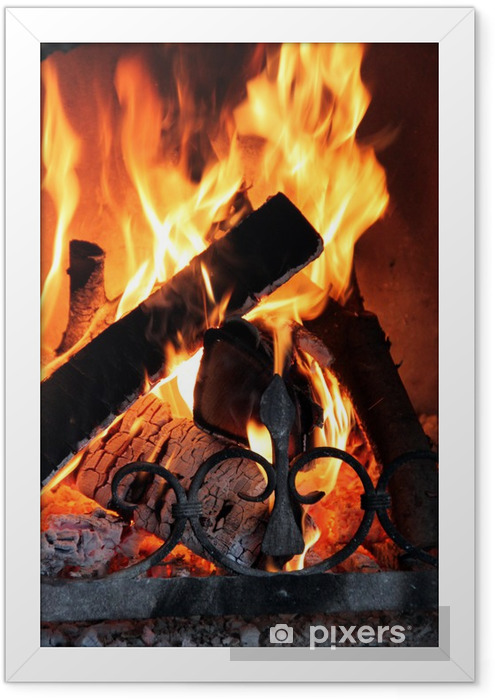 Poster en cadre Fire - Portrait - Cheminée