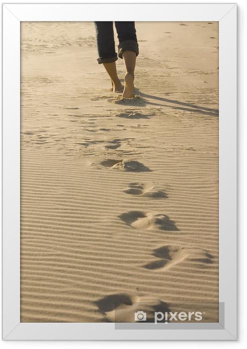 footprints Framed Poster - iStaging