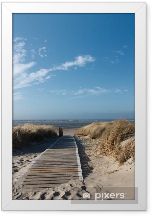 Nordsee Strand auf Langeoog Framed Poster -
