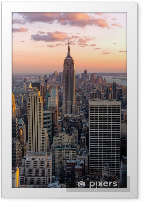 Plakat w ramie New York, Empire State Building -