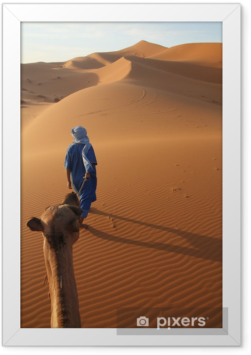 Karawane und Tuareg Framed Poster - Deserts