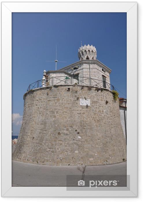 Poster en cadre Phare à Piran, en Slovénie - Europe