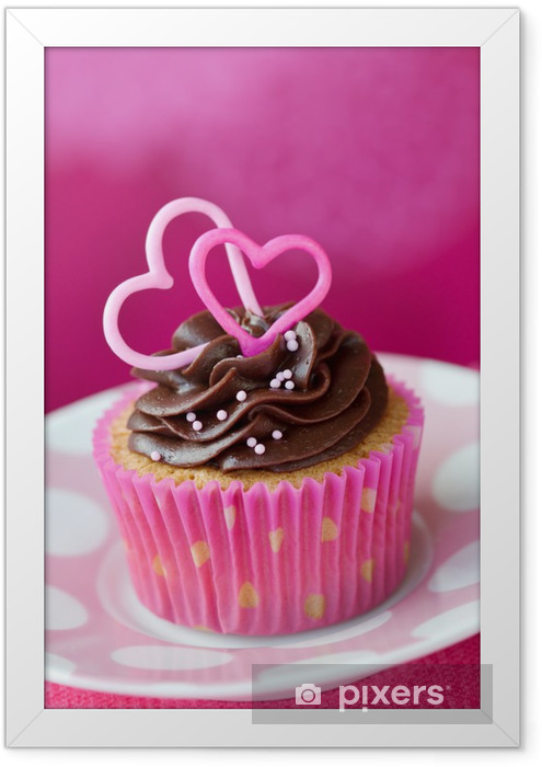 Valentine cupcake Framed Poster - International Celebrations