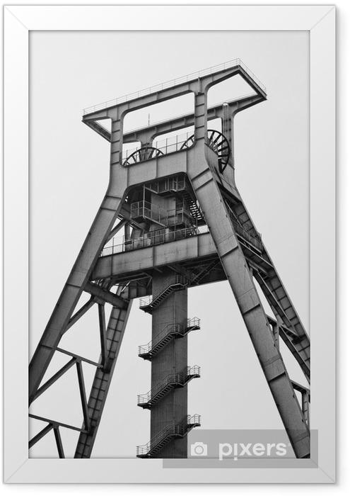 Plakat w ramie Kopalnia Bochum (biała i czarna) - Surowce