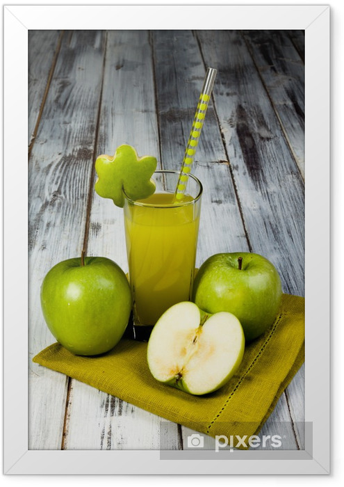 Succo di mela verde Framed Poster - Milk Shakes and Smoothies