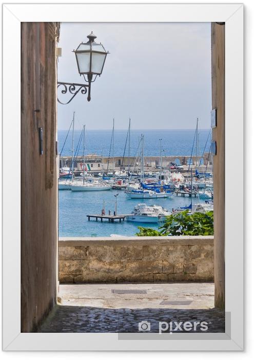 Plakat w ramie Widok z Otranto. Puglia. włochy. -