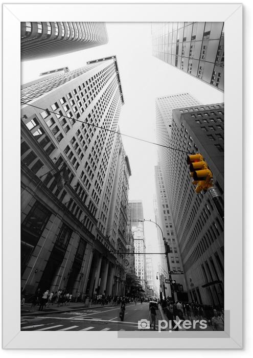 avenue new yorkaise Framed Poster -