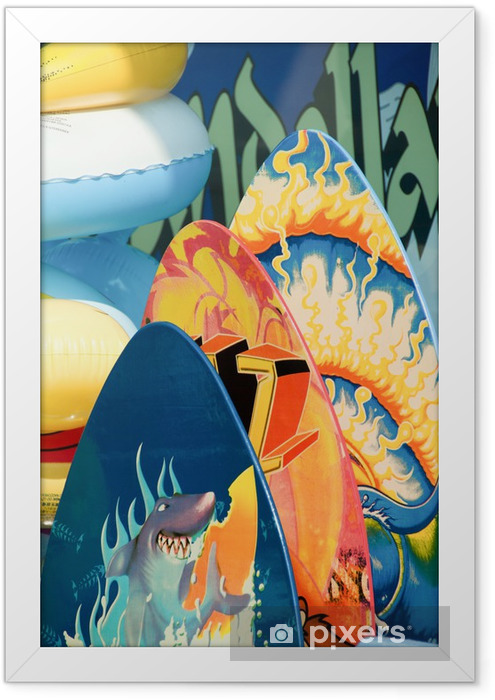Surf and Boogie Boards for sale Framed Poster - Holidays