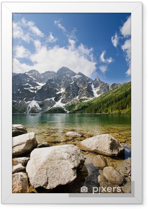 Morskie Oko lake in Polish part of Tatra mountains Framed Poster - Themes