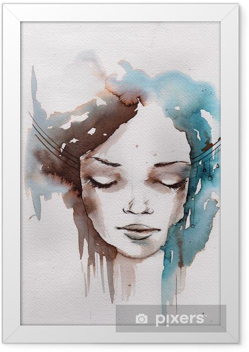 Plakat w ramie Zima, zimno portret -