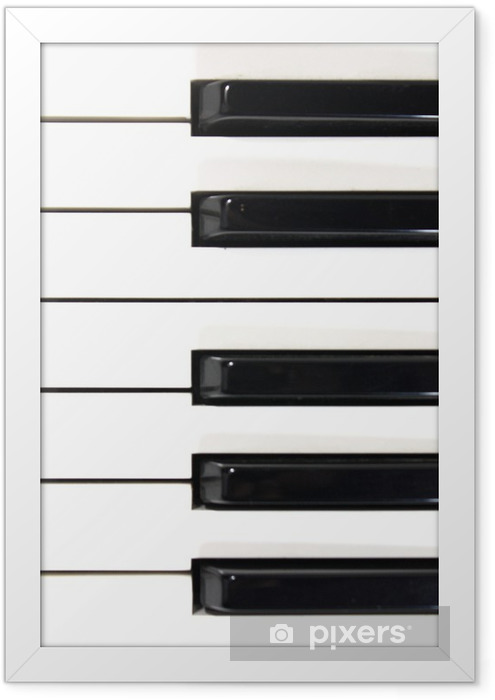 piano key closeup Framed Poster - Music