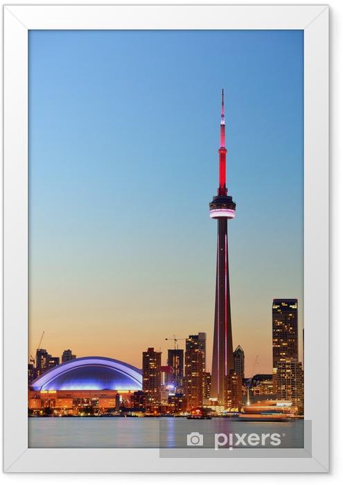 Toronto skyline Framed Poster - America