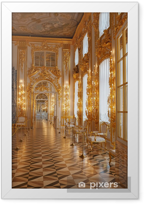 Catherine Palace in Framed Poster - Private Buildings