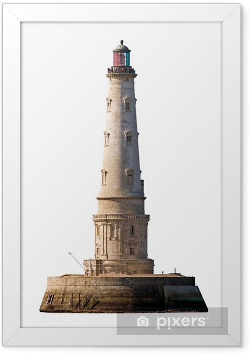 Poster en cadre Le phare de Cordouan isolé sur blanc - Vacances