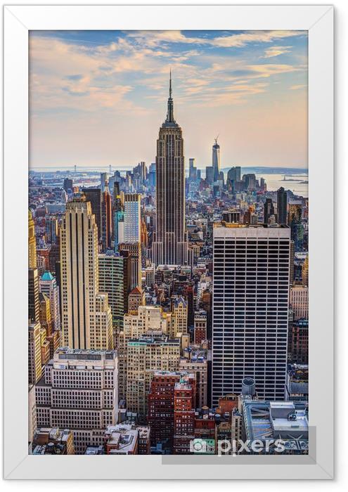 New York City at Dusk Framed Poster -