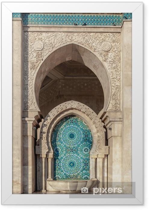 Plakat w ramie Meczet Hassana II, Casablanca, Maroko - Afryka