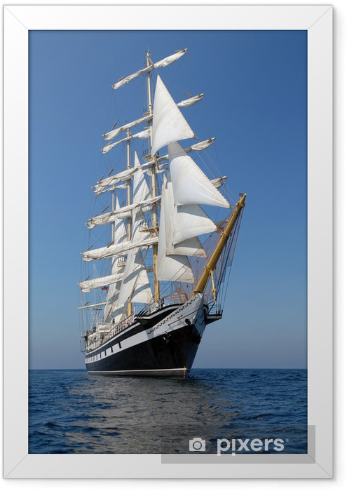 Sailing ship. series of ships and yachts Framed Poster - iStaging