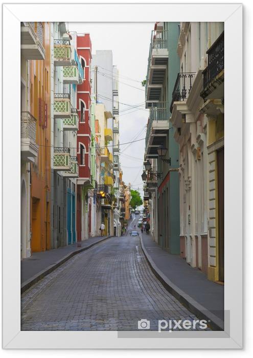 Caribbean street Framed Poster - America
