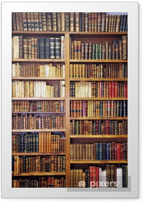 Plakat w ramie Stare książki, biblioteki - Biblioteczka