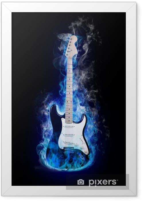 Plakat w ramie Gitara elektryczna - Jazz