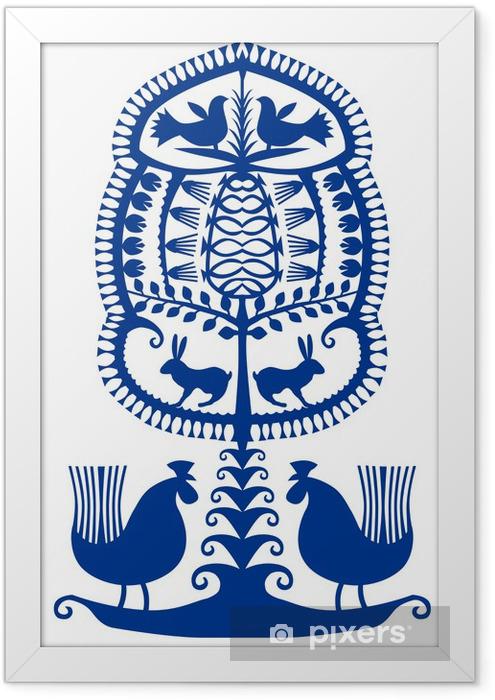 Plakat w ramie Zabawki kurpiowska_02 - Tekstury