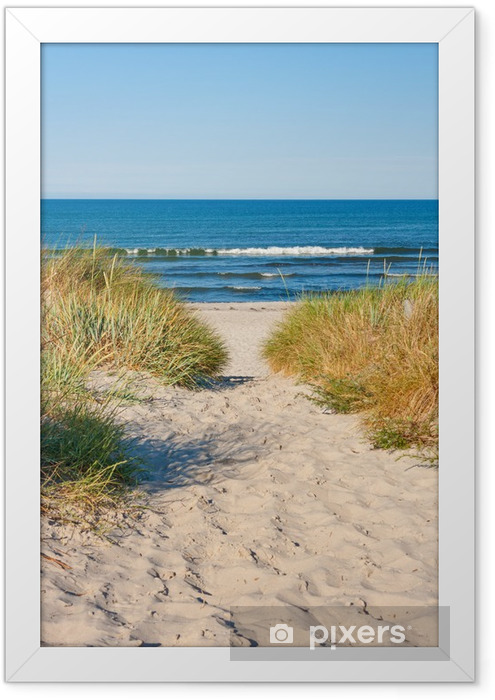 Beach access Framed Poster - Sea and ocean