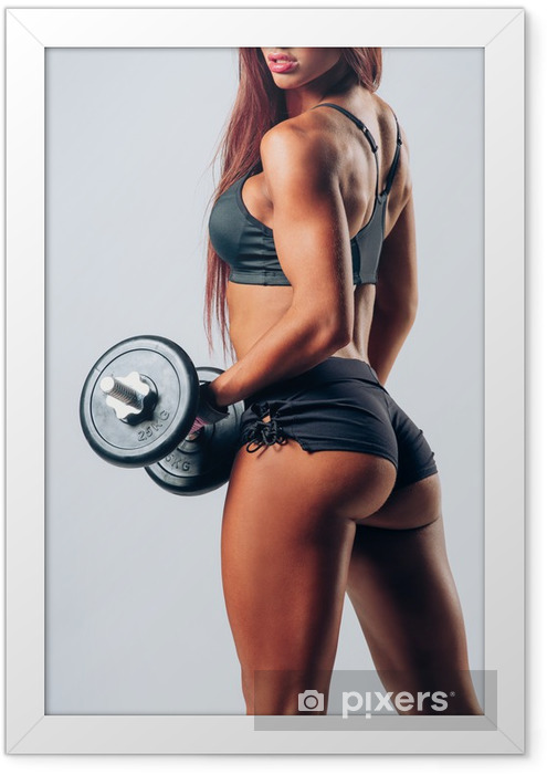 fitness woman Framed Poster - Health
