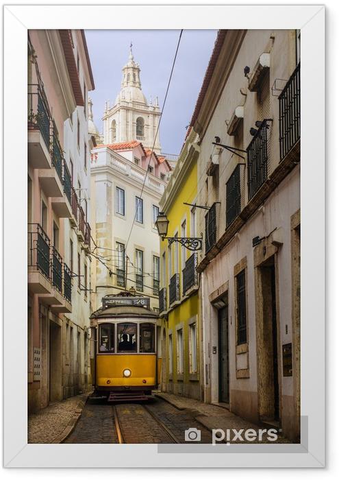 Plakat w ramie Lizbona tramwaj - iStaging