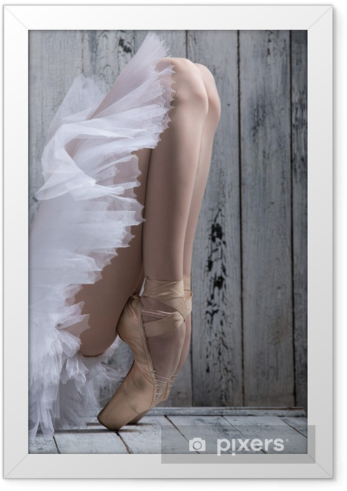 Dancer standing on his toes. Framed Poster - iStaging
