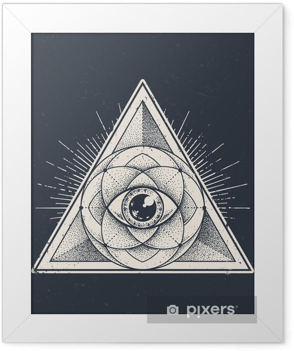 Sacred Geometry Framed Poster - Graphic Resources