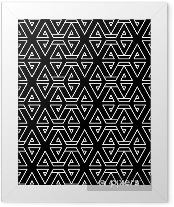 Póster Enmarcado Modelo geométrico abstracto almohada moda inconformista blanco y negro - Recursos gráficos