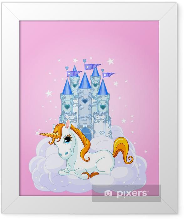 Plakat w ramie Zamek i Unicorn - Dla ucznia