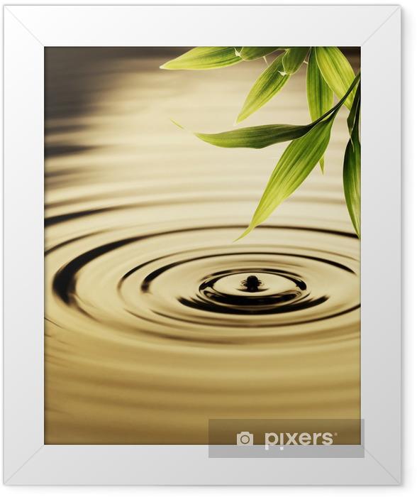 Fresh bamboo leaves over water Framed Poster - Styles