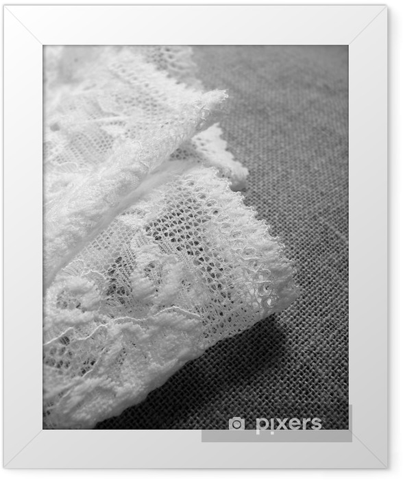 Lace underwear Framed Poster - Fashion