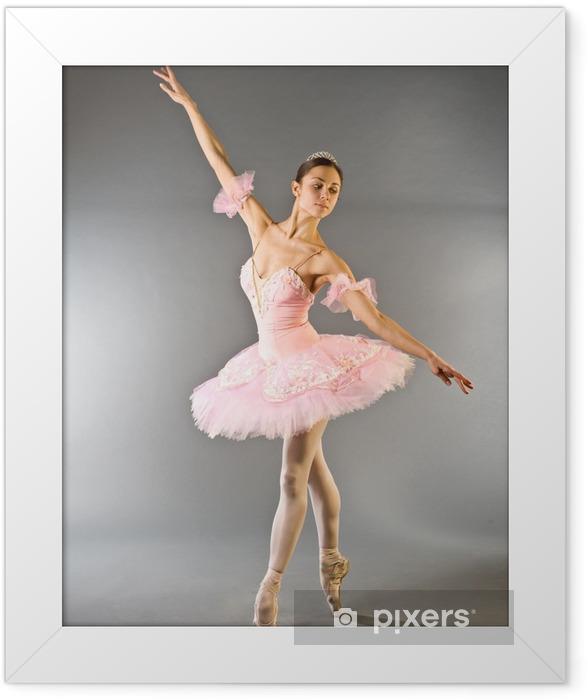 Poster en cadre Danse pieds ballerine isolé - Thèmes