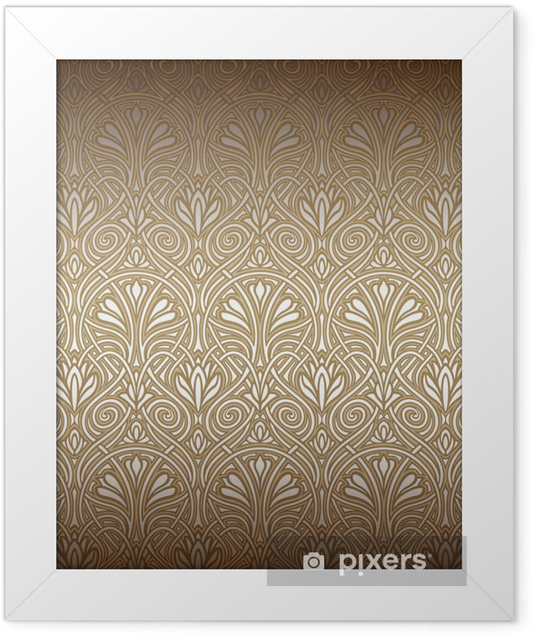 Seamless Art Nouveau pattern Framed Poster - Themes