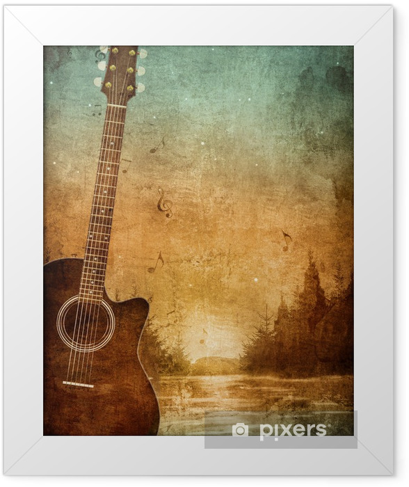 Old Paper Texture Framed Poster - Jazz