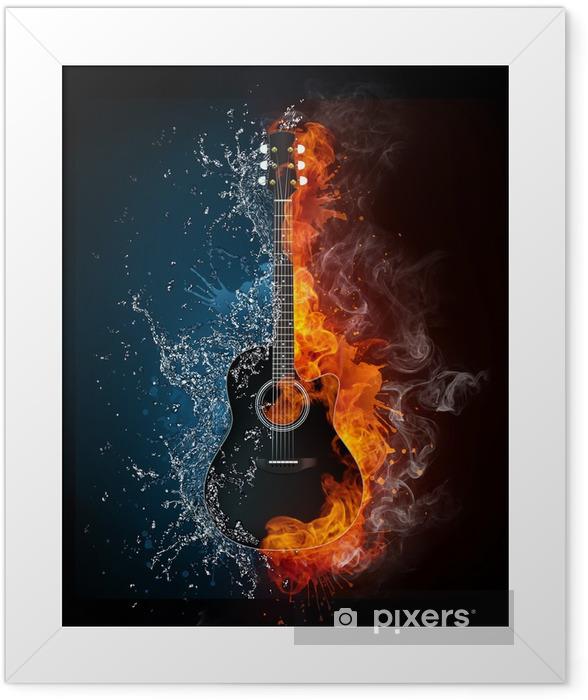 Electric Guitar Framed Poster - Jazz