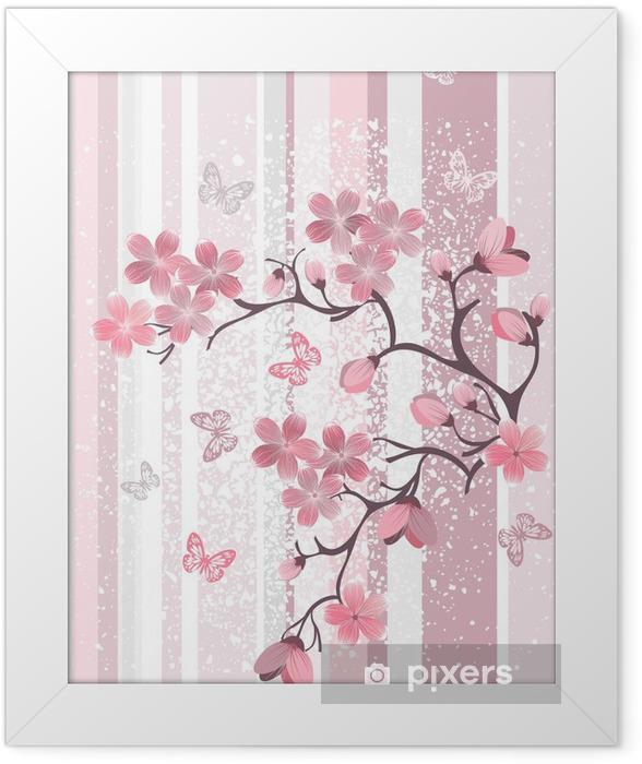 Plakat w ramie Japoński kwiat wiśni - Tematy