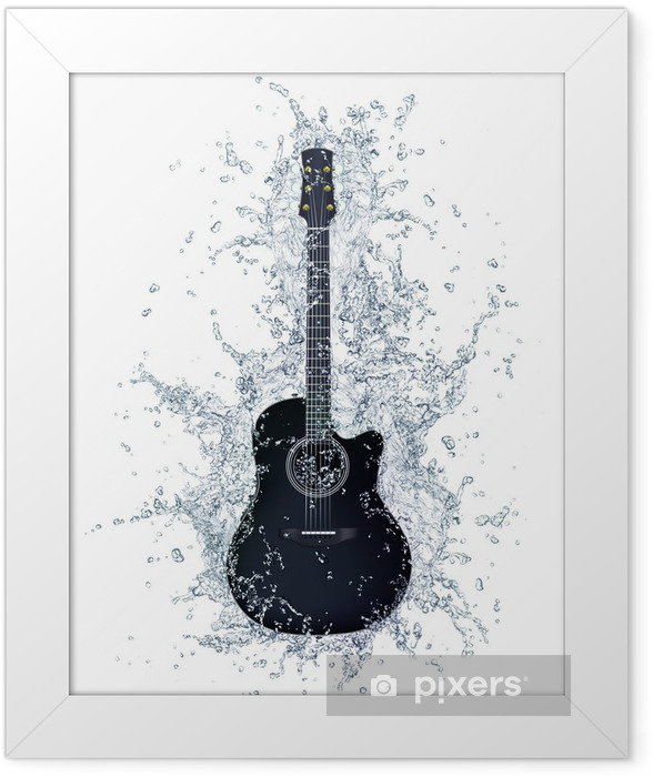 Acoustic Guitar Framed Poster - Themes