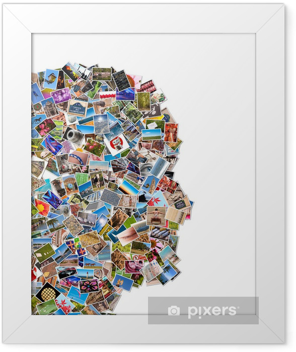 Poster en cadre Collage photos visage de profil - iStaging