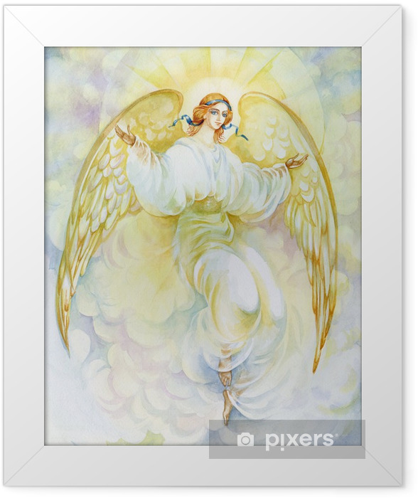 "Watercolor ""Angel"" Framed Poster - Themes"
