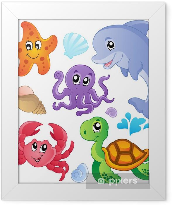 Plakat w ramie Morze ryby i zwierzęta gromadzenia 3 - Naklejki na ścianę