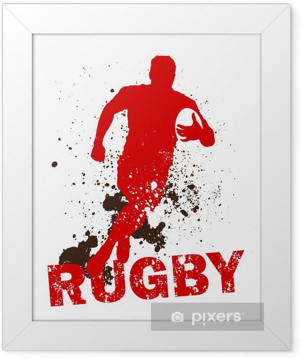 Dirty Rugby Player Framed Poster - Rugby