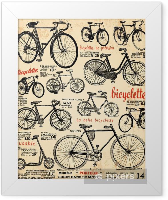 Plakat w ramie Rower w tle -