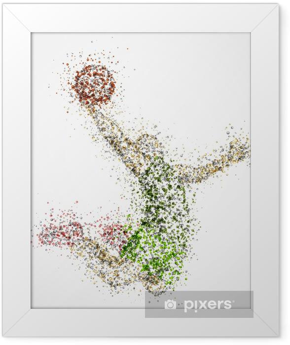 Plakat w ramie Streszczenie koszykarz - Koszykówka