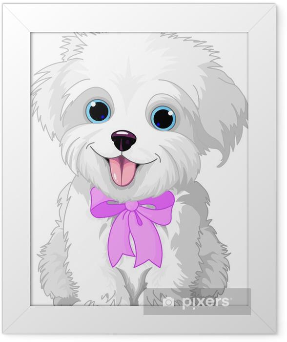 Poster en cadre Blanc lap-dog - Sticker mural